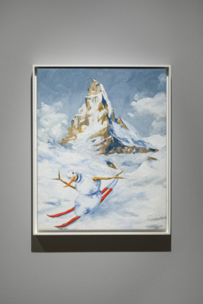 Skiing Snowman: Jan Kiefer at The Swiss Institute